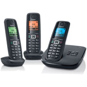 gigaset a510 trio t l phone sans fil 3 combin s. Black Bedroom Furniture Sets. Home Design Ideas