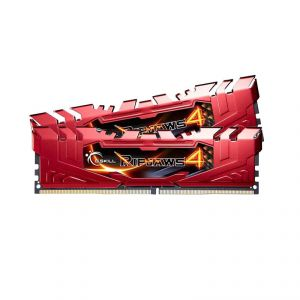 G.Skill F4-2400C15D-16GRR - Barrette mémoire RipJaws 4 Series Rouge 16 Go (2x 8 Go) DDR4 2400 MHz CL15