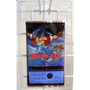 Partner jouet Beyblade sachet de 2 Mini-Toupies 5 Stickers