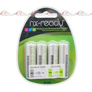 Enix Accus blister lot de 4x AA NX ready 1,2V 2000mAh