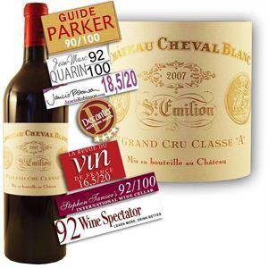 Château Cheval Blanc 2007 - Vin rouge de Bordeaux (Saint Emilion Grand Cru classé)