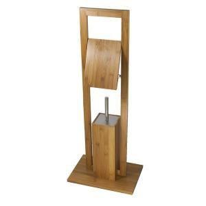 Frandis Combiné WC en bambou (21 x 31 x 80 cm)