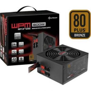 Sharkoon WPM600 - Bloc d'alimentation PC 600W certifié 80 Plus Bronze
