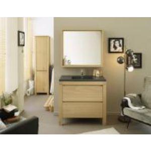 Meuble lave-main de salle de bain Palencia avec vasque et miroir