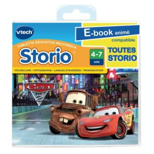 Vtech Jeu tablette Storio : Cars 2