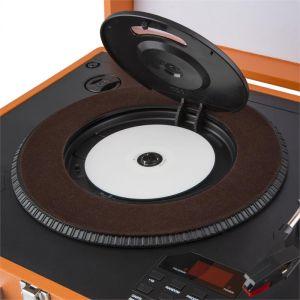 Auna tt370 tourne disque r tro haut parleurs int gr s - Tourne disque avec haut parleur integre ...