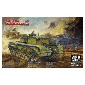 AFV Club AF35253 - Maquette char moyen Britannique Churchill 3 inch gun - Echelle 1:35