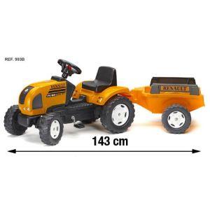 Falk Tracteur à pédales Renault Ares 886RX avec remorque