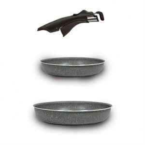 Bialetti OPSSET01 - 2 poêles anti-adhérentes Pratika (24 et 28 cm)