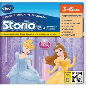 Vtech Jeu tablette Storio 2 : Princesses Disney
