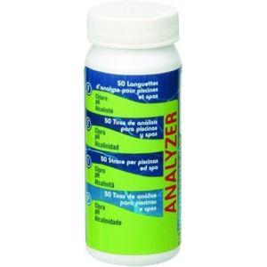 Gre 40068 - Languettes d'analyse chlore + pH + alcalinité (50 bandelettes)