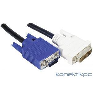 Cordon DVI-A / VGA HD15M 1.80m