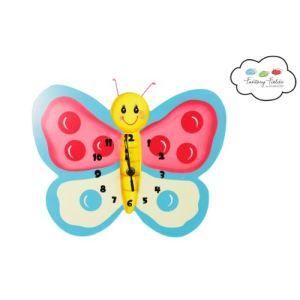 Babyland Horloge murale Papillon