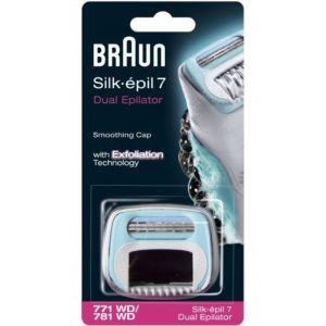 Braun 032960 - Embout douceur 771/781 avec brosse exfoliante de rechange conçu pour épilateurs Silk-épil 7