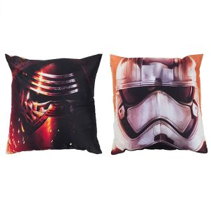 Character World Coussin réversible Kylo Ren & Stormtrooper Star Wars (40 x 40 cm)
