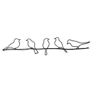 Silhouette Birds en fer 20 x 60 cm