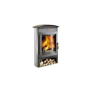 Godin 364102 - Poêle à bois Brulhaut 15 kw (Porte et vitre galbées)