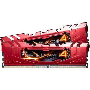 G.Skill F4-2666C15D-16GRR - Barrette mémoire RipJaws 4 Series Rouge 16 Go (2x 8 Go) DDR4 2666 MHz CL15