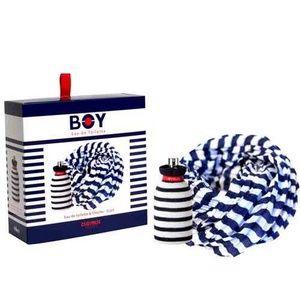 Clayeux Coffret Boy : Eau de toilette et chèche marinière