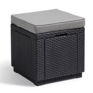 Allibert Cube - Pouf de rangement