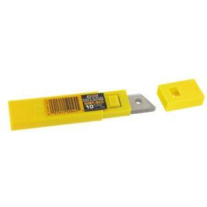 Olfa 326264 - Etui de 10 lames sécables pour cutter (lame 18 mm)