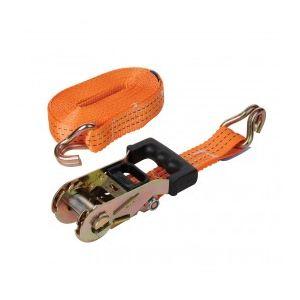 Silverline 346857 - Sangle d'arrimage 3 tonnes à tendeur à cliquet caoutchouté 6m x 38mm
