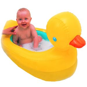 Babysun PI9910 - Baignoire gonflable Canard sonore