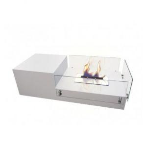 StarLine Diva - Table basse de salon avec cheminée bio éthanol intégrée