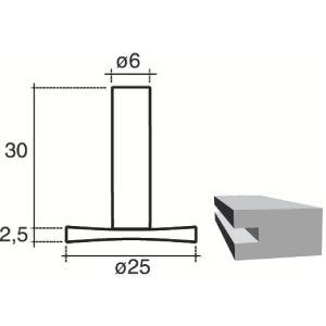 SCID 1154 - Fraise acier au carbone à rainurer sur chant Diamètre 30 mm Longueur 2,5 mm