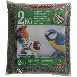 Zolux 2 kg de graines de tournesol pour oiseaux de jardin