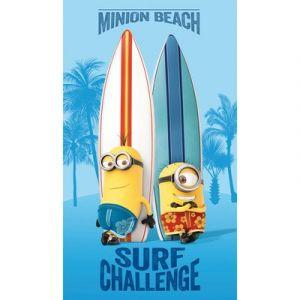 Drap de bain surf Challenge Les Minions (70 x 120 cm)