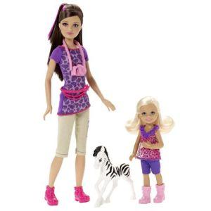 Mattel Barbie et ses soeurs - Skipper et Chelsea soeurs Safari