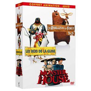 Coffret Animation - Les rebelles de la forêt 1 et 2 + Les rois de la glisse + Monster House