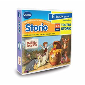 Vtech Jeu tablette Storio : Winnie l'Ourson