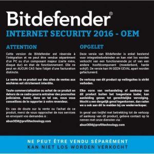 Bitdefender Internet Security 2016 pour Windows