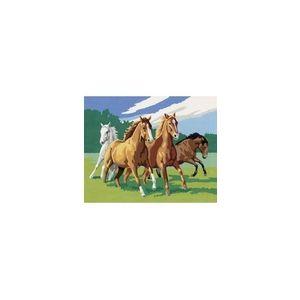 Ravensburger Peinture au numéro - Classic : Chevauchée endiablée