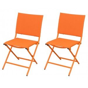 Bali - 2 chaises de jardin en acier et textilène