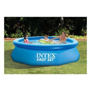 Intex piscine tubulaire metal frame ronde 4 57 x 1 22 m for Piscine intex 244 avec filtre