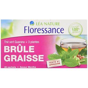 Floressance Brûle Graisse - Thé vert guarana + 3 plantes, 20 sachets