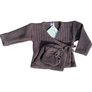 Les Chatounets Léonie - Ensemble tricotage layette bébé (0 mois)