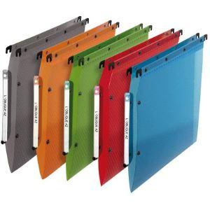 L'Oblique AZ Paquet de 10 dossiers suspendus en polypropylène pour armoire (fond : V)