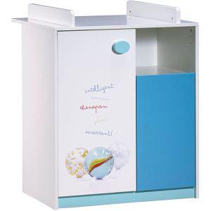 Sauthon Commode 2 portes et 1 niche Récréation avec dispositif à langer amovible 80 x 95 x 70 cm