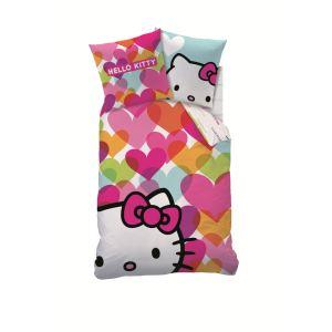 Cti Hello Kitty - Housse de couette avec taie 100% coton (140 x 200 cm)