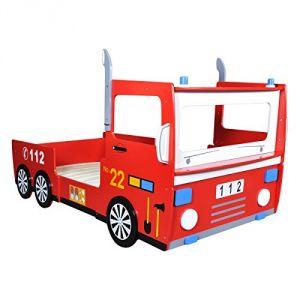 Lit camion de pompier pour enfant 200 x 90 cm comparer les prix avec tousle - Camion de pompier pour enfant ...