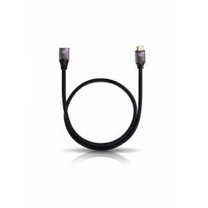 Oehlbach 92447 - Rallonge HDMI mâle / femelle 1.20 m noir