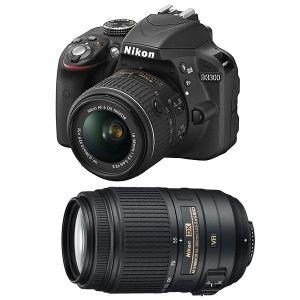 Nikon D3300 (avec 2 objectifs 18-55mm et 55-300mm)