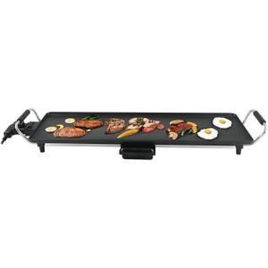 Continental Edison CEGPL70 - Plancha grill électrique avec thermostat réglable