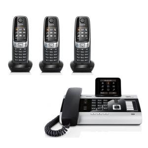 Gigaset DX800A Quatro - Téléphone fixe avec 3 combinés C620H