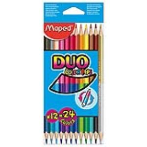 Maped 12 Crayons de couleur Color'Pep's Duo bicolores 2 en 1