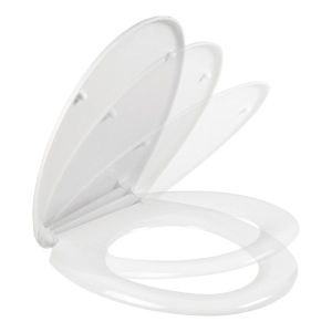 Galedo Abattant universel siège WC blanc avec système frein de chute